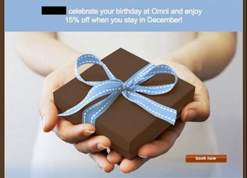 Email Cadeau client