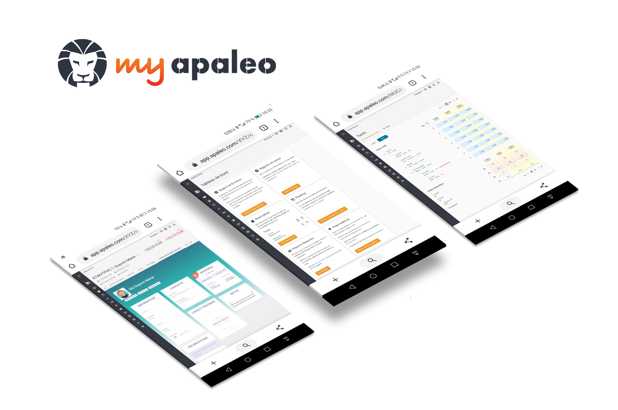 My apaleo smartphone