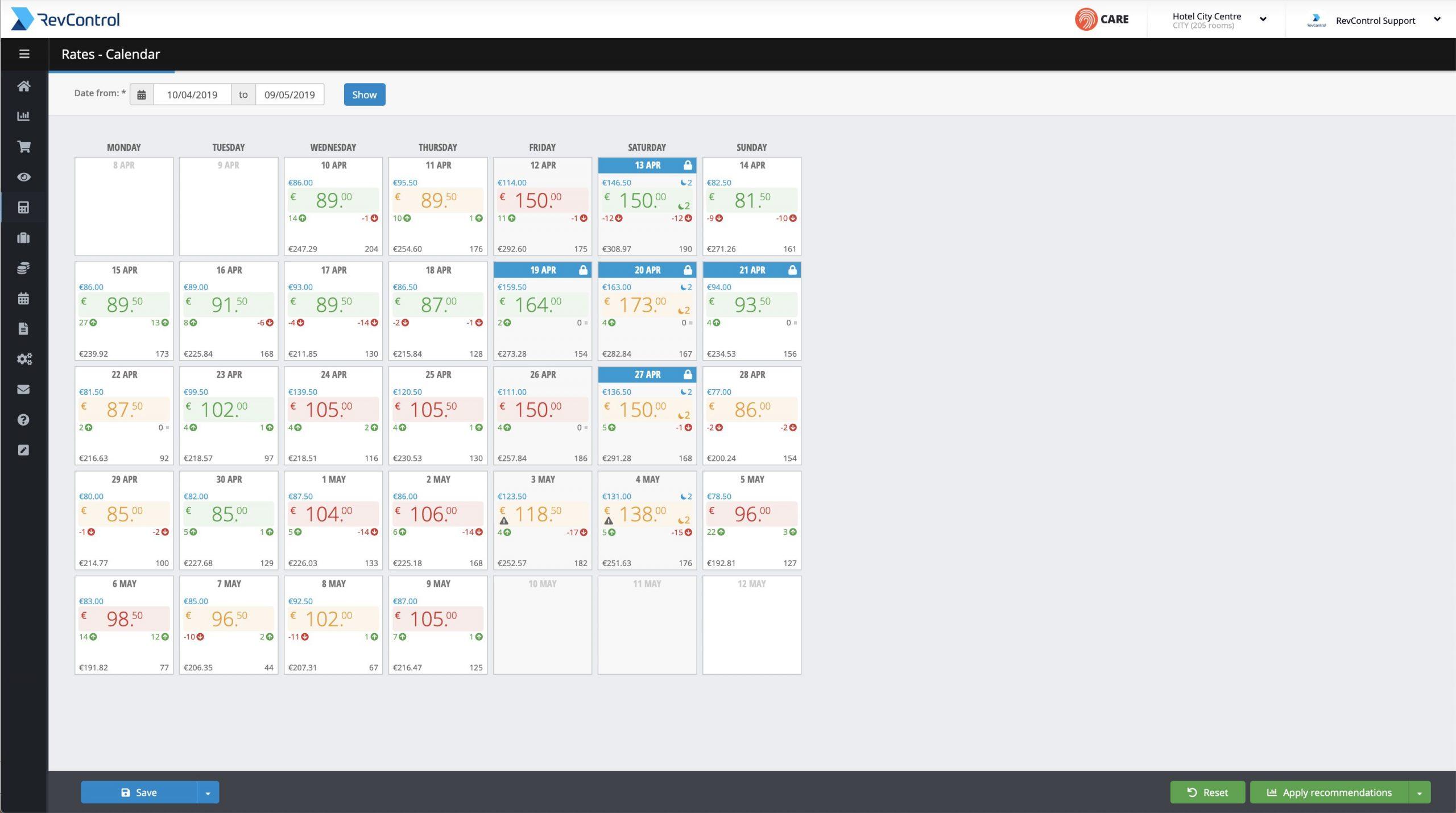Rate-Calendar